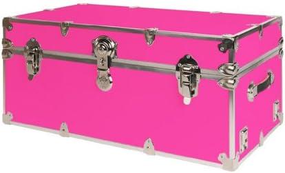 SecureOnCampus College Dorm Storage Trunks Footlockers Large – Neon Pink
