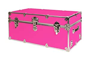 SecureOnCampus College Dorm Storage Trunks / Footlockers Large - Neon Pink