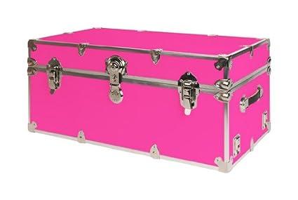 SecureOnCampus College Dorm Storage Trunks / Footlockers Large   Neon Pink