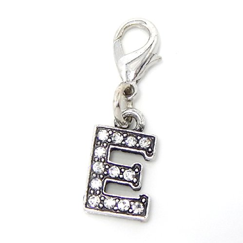 Pendant Charm Dangling (Silver Plated Dangling Clip-on