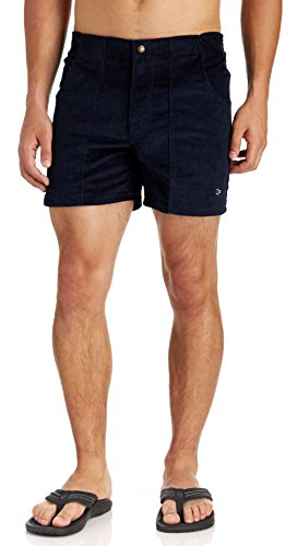 Ocean Pacific Men's Vintage Cord Shorts, Navy, Large