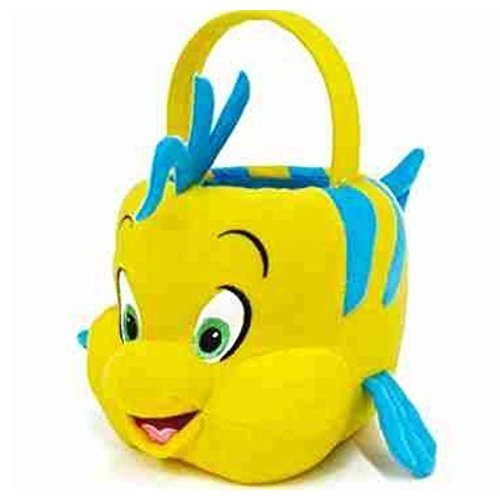 Disney Little Mermaid Flounder Plush Halloween Bucket Bag Purse