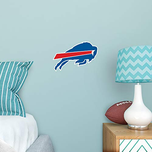 FATHEAD NFL Buffalo Bills - Logo Teammate- Officially Licensed Removable Wall Decal, Multicolor, -