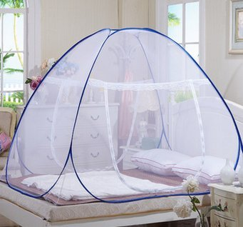 Mosquito Net for Bed Pop Up Mosquito Net Bed Guard Tent Folding With Bottom Moustiquaire Bed Zipper Anti Mosquito Bites for Babies Toddlers Kids Adult Travel Fit Twin, Full, Queen, King