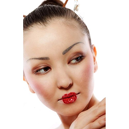 Geisha Makeup Costume (Xotic Eyes - Geisha Lips Body Art Applique)