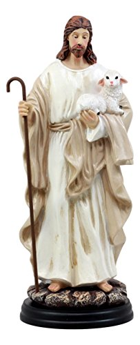 Shepherd Lamb - Ebros Gift Jesus Christ The Lamb Of God Devotional Statue 10.25