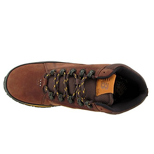 Leather Balance yellow New Trekking Genuine Brown Brown Boots wzSqETSv