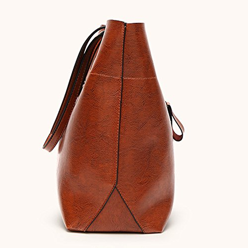 Femme à Sac Grande Bag Sacs Retro à Cuir Main Ladies Black Capacité Plein Business Pour Air Tote Bandoulière En Diagonal Bag qICfq