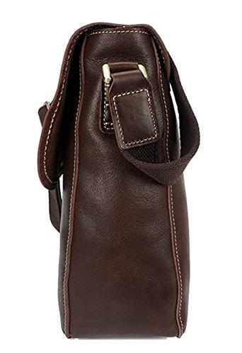 Men's Handmade Aceite Cera De Cuero Hombro Bolso Casual Messenger Bag Bolsa De Cuero Retro Hombres Saco A