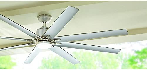Home Decorators Collection Kensgrove 72 in. LED Indoor Outdoor Brushed Nickel Ceiling Fan