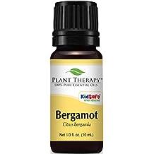 Plant Therapy Bergamot Essential Oil. 100% Pure, Undiluted, Therapeutic Grade. 10 ml (1/3 oz).