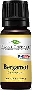 Plant Therapy Bergamot Essential Oil. 100% Pure, Undiluted, Therapeutic Grade. 10 ml (1/3 oz).