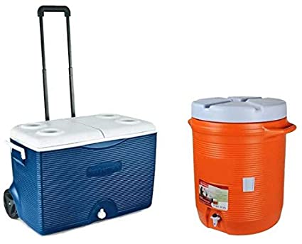 Amazon.com: Rubbermaid paquete de enfriador con ruedas de 60 ...