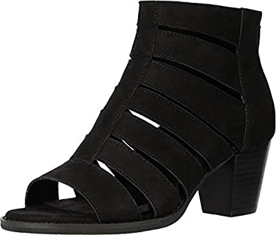 Vionic Aloft Harlow - Women's Wedge / Open Toe Bootie Black - 7.5