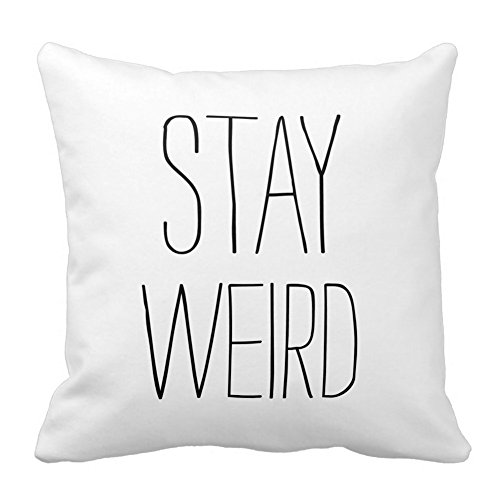 funny-stay-weird-black-white-square-throw-pillow-case-decorative-cushion-cover-pillowcase