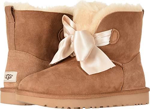 UGG Women's W GITA Bow Mini Fashion Boot Chestnut 9 M US