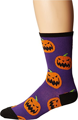 Socksmith Women's Halloween Pumpkins Purple One -