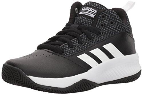 adidas Originals Unisex-Kids Cloudfoam Ilation 2.0 Basketball Shoe, Core Black/White/Grey Five, 3 M US Big Kid