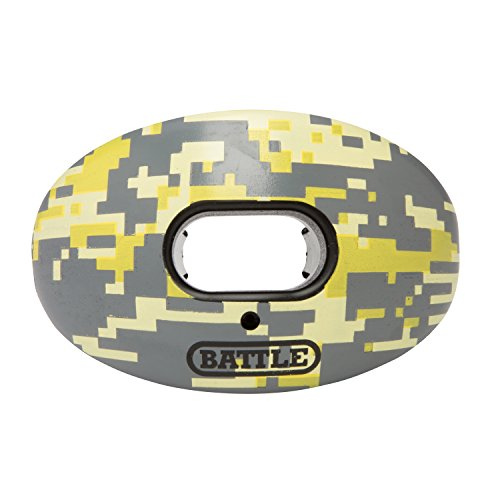 (Battle Oxygen Lip Protector Mouthguard - Football and Sports Mouth Guard - Maximum Oxygen - Mouthpiece Fits With or Without Braces - Absorber Shield Protects Lips and Teeth, Limited Edition Camo Print)