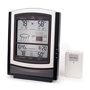 Big Screen Wireless Weather Station with Temperature, Humidity, Barometer, Clock and Calendar