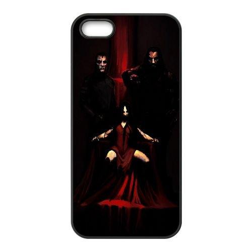 Fear coque iPhone 5 5S cellulaire cas coque de téléphone cas téléphone cellulaire noir couvercle EOKXLLNCD23660