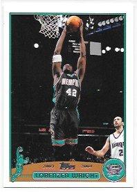 Lorenzen Wright 2003-04 Topps Memphis Grizzlies Card #123