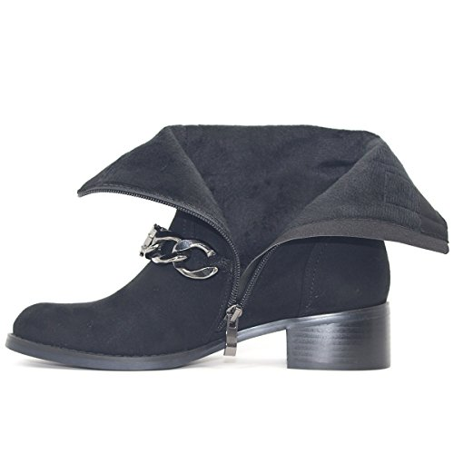 Noir Pointu Chaussures Womens Talons Zaproma Chunky Chaud Hiver Cheville Bout Bottes Automne vPZRqZX