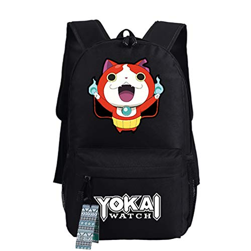 Bag Unisex Watch - 600D Oxford 3DS Yokai Watch Game Theme Anime Cartoon Students Teens Backpacks Shoulder Bags Schoolbags Daypacks 18 Inches Black 02