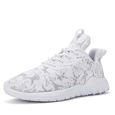 Soulsfeng Zapatos Deportivos Zapatillas Zapatos de Hombres para Mujer Calzado Deportivo Zapatos Planos Zapatos Con Cordones(gris 43EU) gQip2BnW