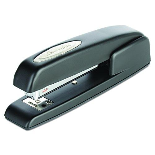 Swingline Stapler, 747, Business, Manual, 25 Sheet Capacity, Desktop, Antimicrobial, Black (Classic 2 Heavy Duty Stapler)
