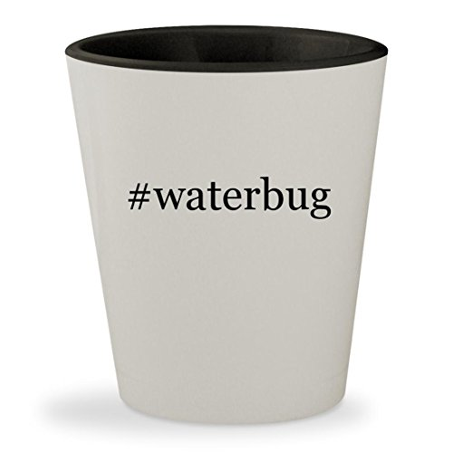 #waterbug - Hashtag White Outer & Black Inner Ceramic 1.5oz Shot - Waterbugs Sunglasses