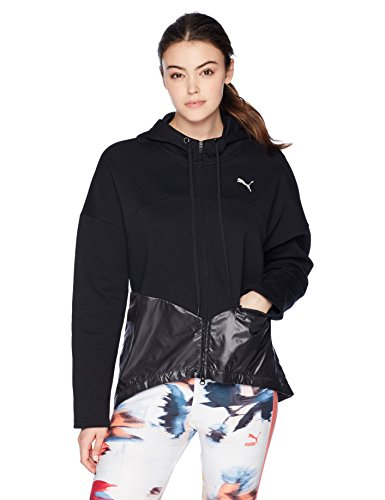PUMA Women's Transition Full Zip Hoodie, Puma Black, S -
