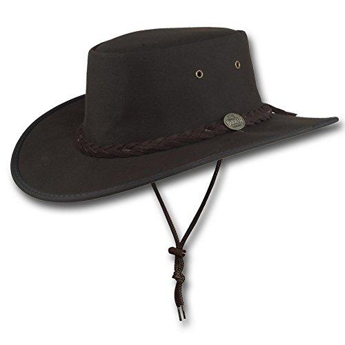 Barmah Canvas - Barmah Hats Drover Oilskin Hat 1050BR - Brown - Medium