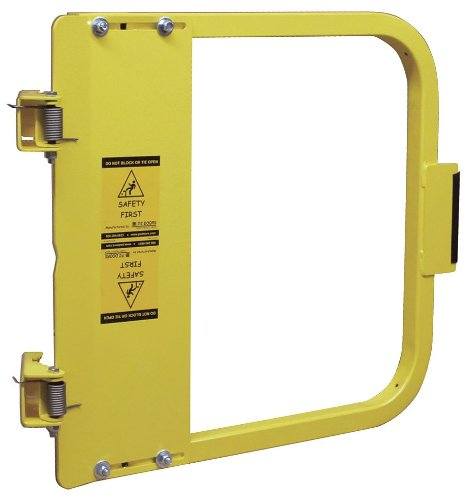 PS DOORS LSG-36-PCY Ladder Safety Gate Mild Carbon Steel, Powder Coat Yellow, Fits Opening 34-3/4'' to 38-1/2'', Each by PS Doors