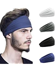HeyFive Sports Headbands for Women&Men Workout Hairbands Elastic Sweat Bands Tennis Yogo Running