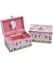 Lucy Locket Magische Fee sieradendoos speeldoos voor kinderen – roze sieradendoos met muziekdoos, glitter en vakjes voor ringen