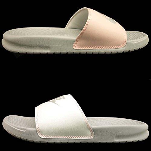 Nike Damen Benassi JDI Pantoffeln Weiß (Beige Clair/Cramoisi/Voile/Beige Clair 005)