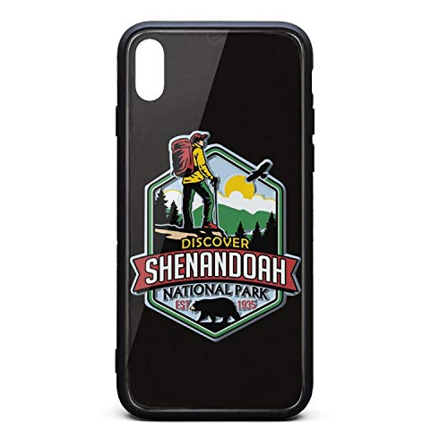 Shenandoah National Park Tempered Glass Phone Case for iPhone X Unisex Pretty Skid-Proof Back Cover Skin