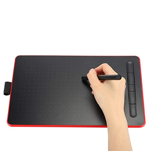 Digital Graphics Hand Writing Tablet Electronic Drawing Board, Writing Board, Electronic Students for Designers, Painting Lovers(Classic red)