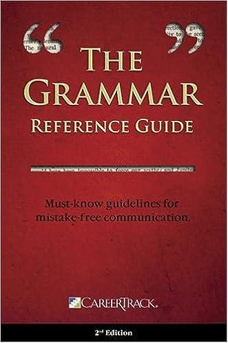 the grammar reference guide careertrack 9781933328546 amazon com rh amazon com
