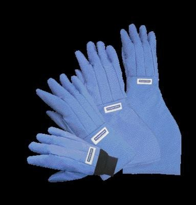 Blue 18'' - 19'' Elbow Length Cryogen Safety Gloves by National Safety Apparel Inc (Image #1)