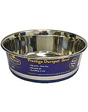 Durapet 49-8004 Premium SS Pet Bowl 1.85L, Silver/Blue
