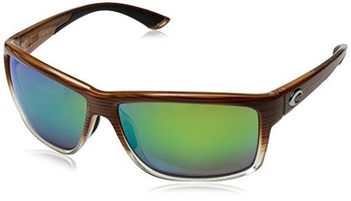 Costa Del Mar Mag Bay Sunglasses, Wood Fade, Silver Mirror 580P - Fishing Sunglasses Del Mar Costa