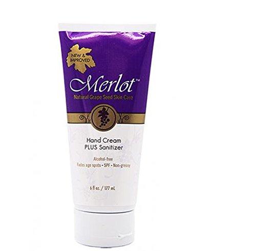 Merlot Skin Care Moisturizing Hand Cream for Dry, Rough Hands   Fragrance-Free   NON-GREASY  Intensive Hand Cream, 6 Ounces ()