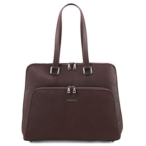 Tuscany Leather TL141630 - Bolso al hombro de Piel para mujer Marrón marrón compact