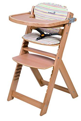 Safety 1st 27608832 Timba mitwachsender Hochstuhl Holz mit Sitzkissen, naturholz