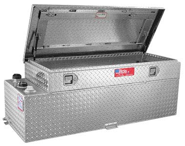 RDS 71789 Rectangular Auxiliary/Transfer Combo Fuel Tank and Tool - 51 Gallon Capacity (Fuel Transfer Tank Toolbox)