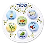 Passover Seder Plate Deluxe Quality Plastic 10'' Disposable Plates (6)