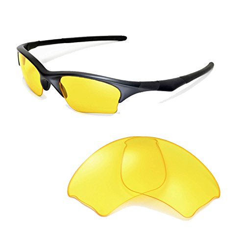 Walleva Replacement Lenses for Oakley Half Jacket XLJ Sunglasses-Multiple Options Available - Jacket Sunglasses Yellow