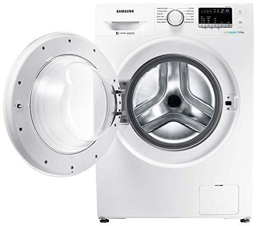 Samsung 8 kg Inverter Fully-Automatic Front Loading Washing Machine (WW80J4243MW/TL, White, Inbuilt Heater, Eco Bubble)